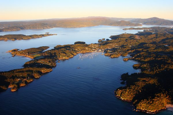 new zealand stewart island rakiura national park aerial view tnz