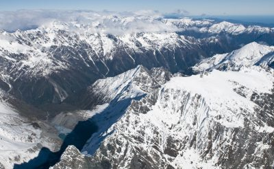 new zealand west coast aerial view over fox glacier twc
