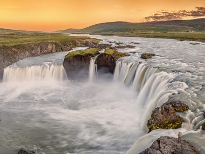 north iceland godafoss warm light rth