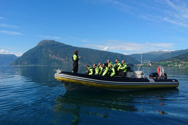 norway fjords balestrand rib adventure listening to guide fjdad