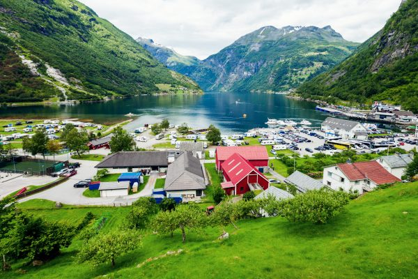 norway fjords geiranger town view istk