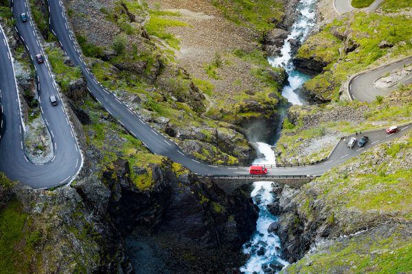 norway fjords trollstigen road aerial view istk