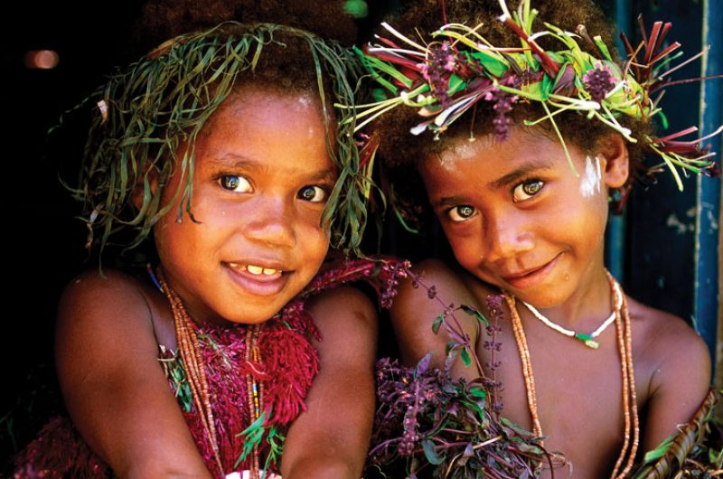 papua new guinea tribe children
