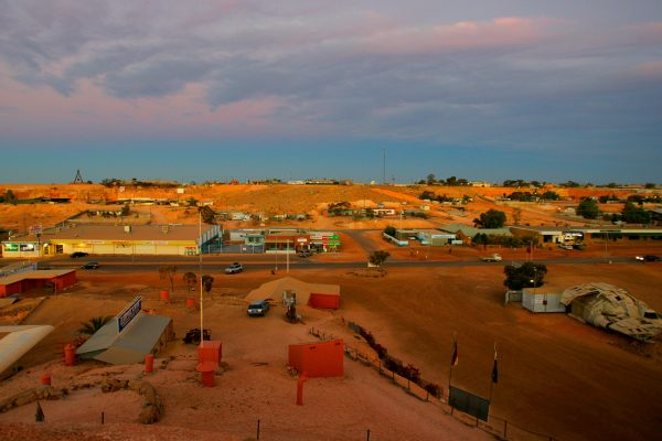 south australia coober pedy town view istk