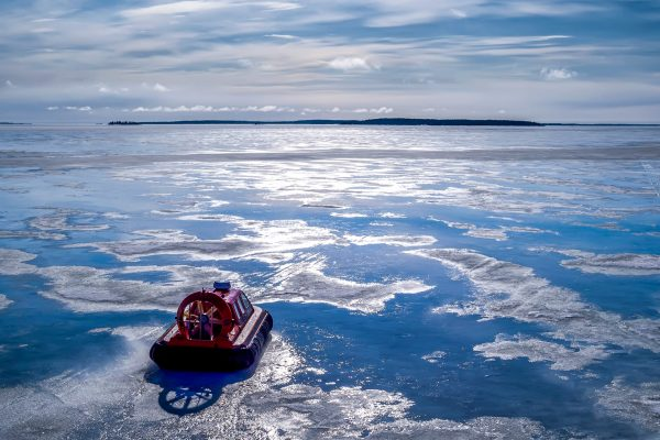 swedish lapland brandon hovercraft on archipelago drone rth