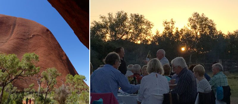 uluru and sunset dining australia