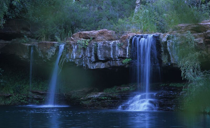 wa karijini national park fern waterfall