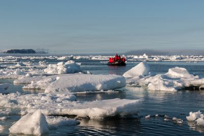 arctic franz josef land lone zodiac through the ice psdn jzaccaria
