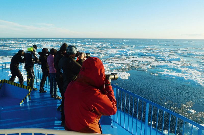arctic spitsbergen photographing sea ice from deck pq