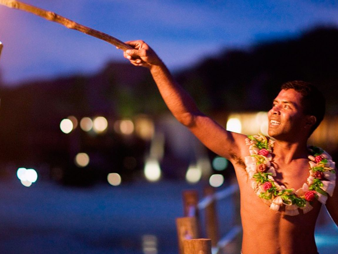 fiji likuliku island resort lighting torches lir