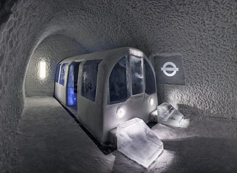 icehotel mind the gap tube icehotel finished