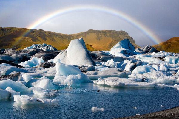 iceland south east jokulsarlon and rainbow istk