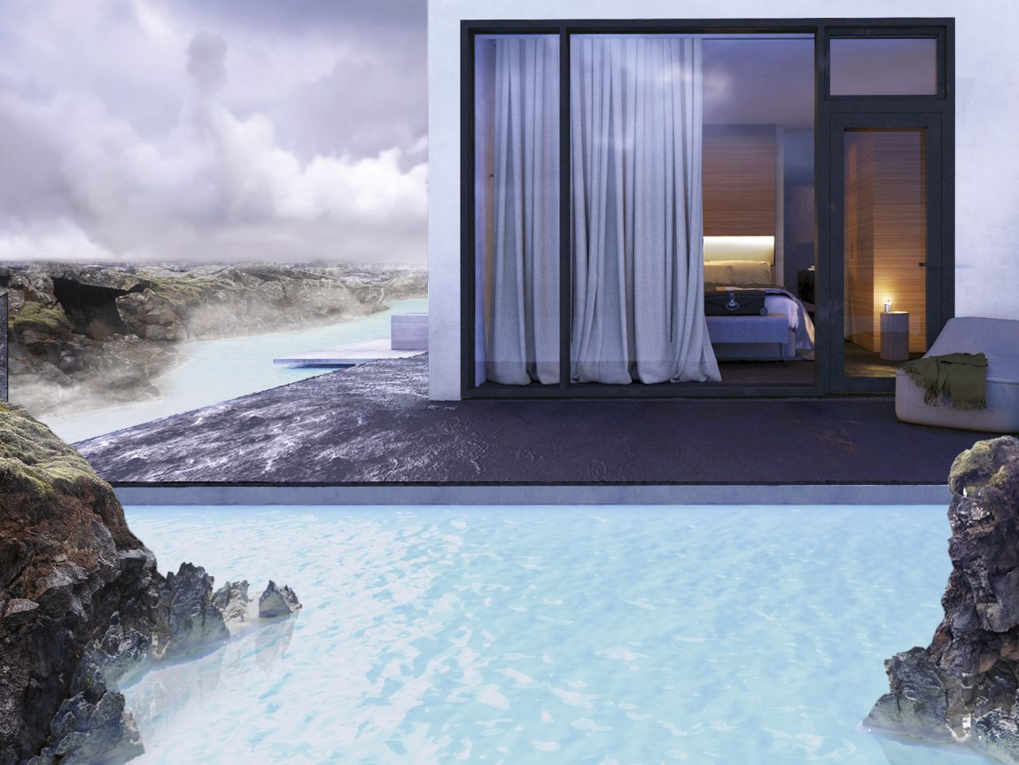 iceland south west blue lagoon retreat lagoon suite exterior blr