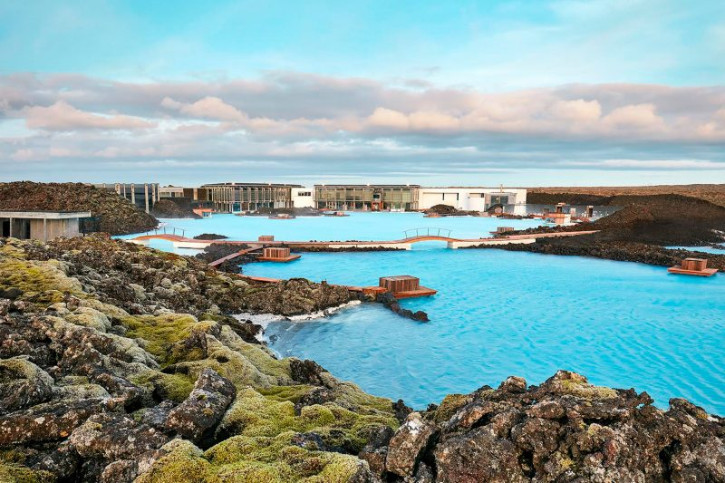 iceland south west blue lagoon summer sweeping view bl
