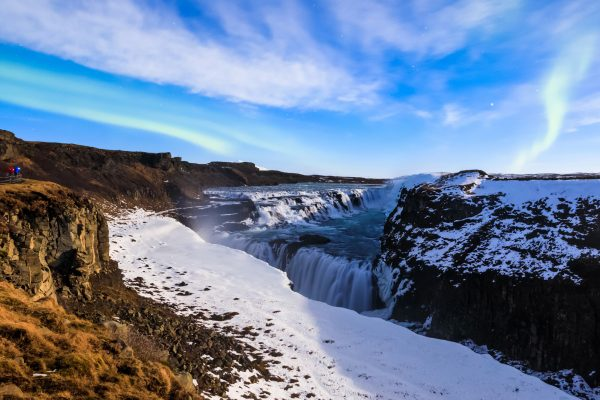 iceland south west gullfoss aurora istk