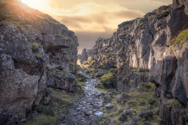 iceland south west thingvellir rift stone path istk
