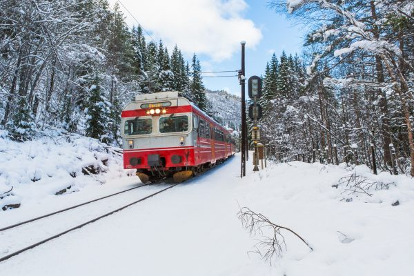 norway bergen to oslo railway winter istk