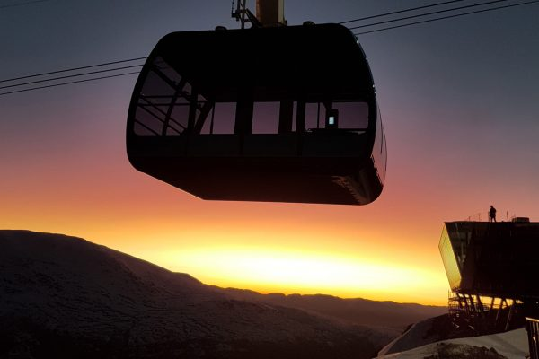 norway fjords cable car loen skylift sunset ls db