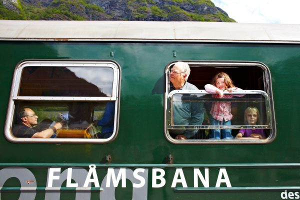 norway flam railway looking out the window vf