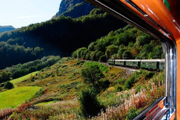 norway flam railway view from train vf