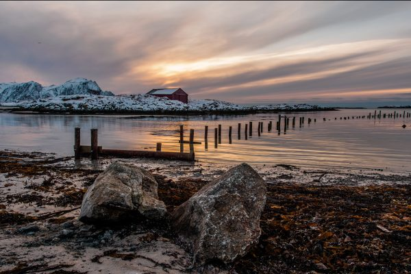 norway lofoten winter beach at andenes adstk