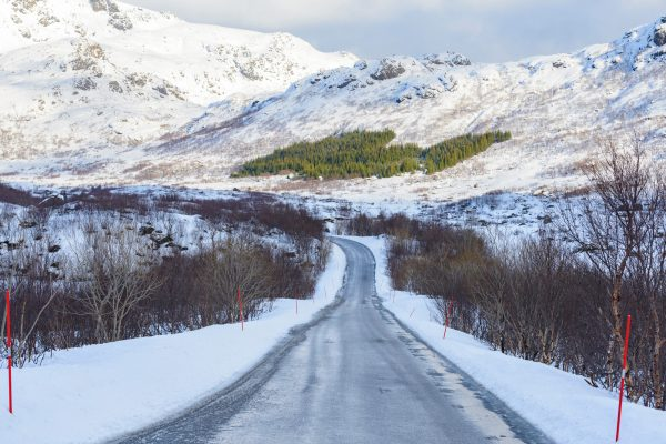 norway lofoten winter road istk