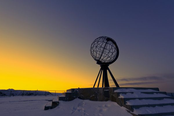 norway northern globe sunset northcape istk