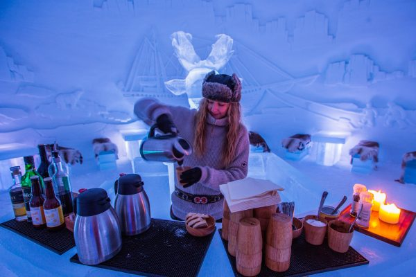 norway northern tromso ice domes hot drinks dtroms