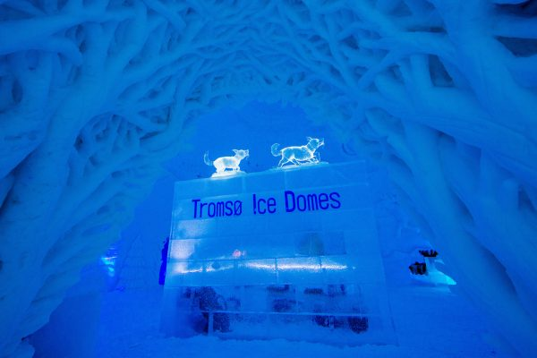 norway northern tromso ice domes sign dtroms