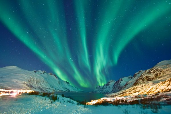 norway northern tromso surrounds with aurora istk