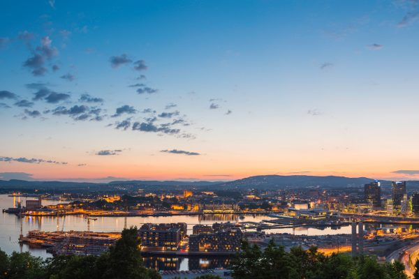 norway oslo sunset panorama istk