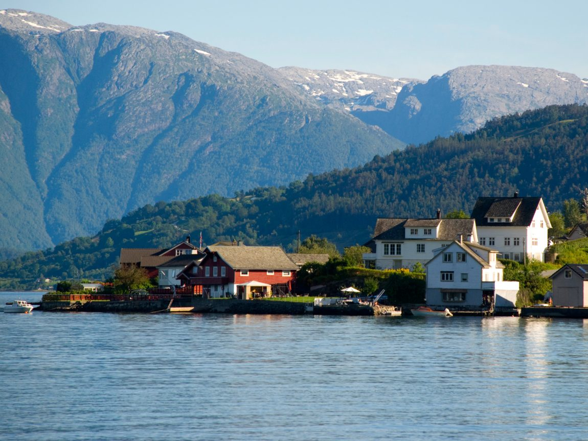 norway village in hardangerfjord istk