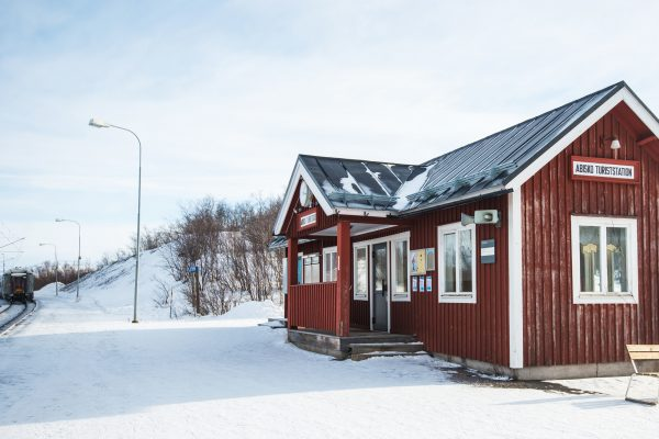 swedish lapland abisko rail station adstk