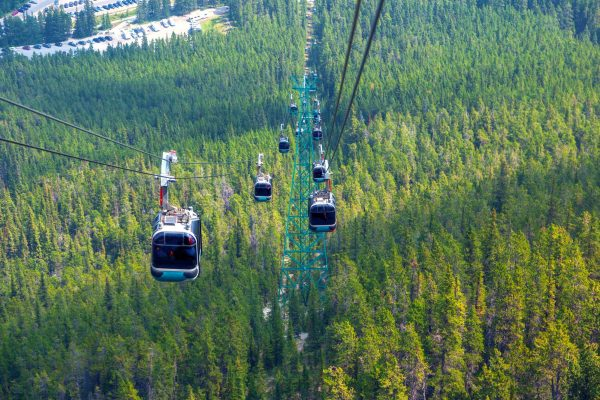 canada alberta sulphur mountain gondola direct view istk