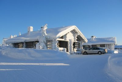 finnish lapland iso syote kelo cottage and car