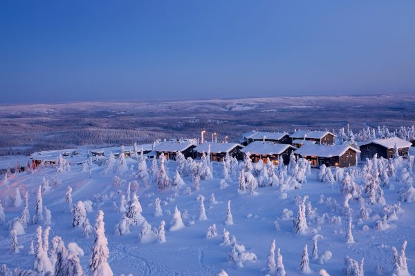 finnish lapland iso syote view of fjelltop accommodation