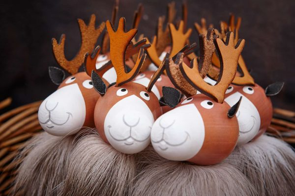 finnish lapland wooden reindeer christmas decorations istk