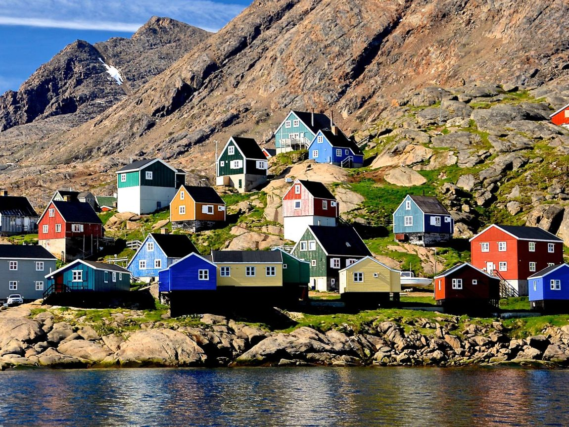 east greenland tasiilaq town water view ch
