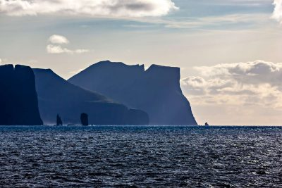 faroe islands eysturoy risin and killingin rocks and coastline towards streymoy istk