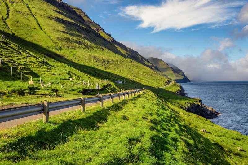 faroe islands kalsoy coastal road istk
