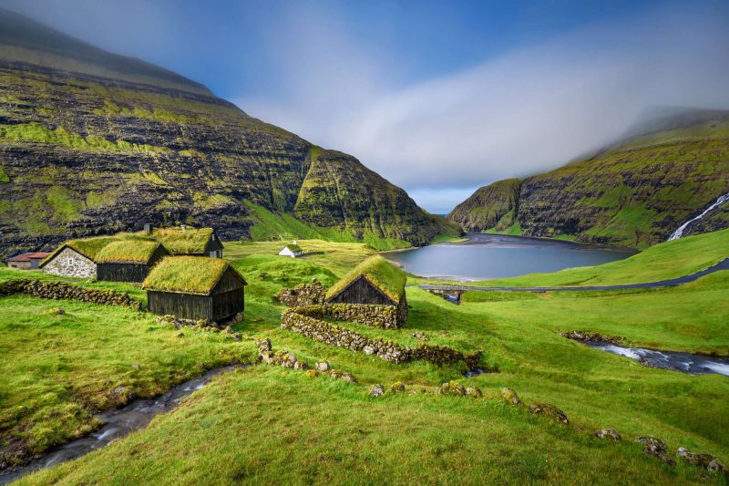 faroe islands streymoy village of saksun istk