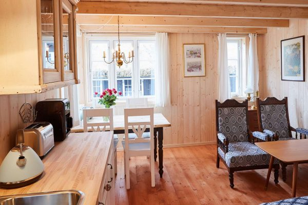faroe islands torshavn hotel hafnia cottage open plan lounge dining area