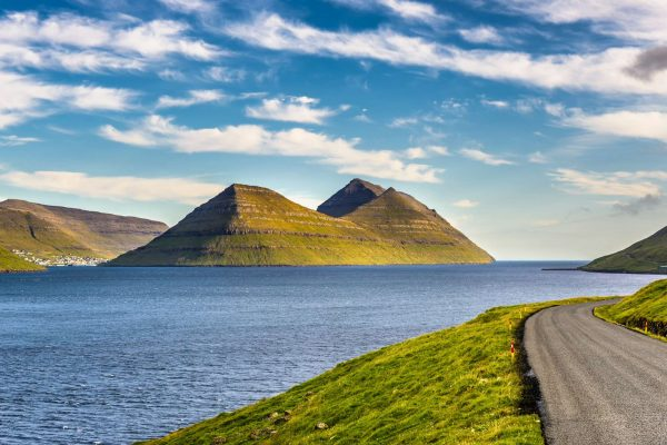 faroe islands view of bordoy from kalsoy istk