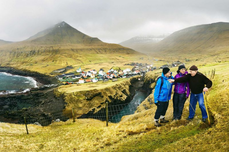 faroe islands walkers and view fitb