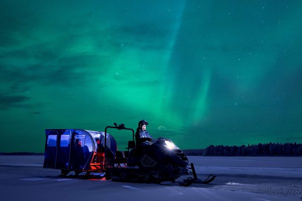 finnish lapland apukka resort aurora wagaon snow train