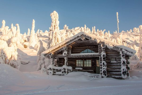 finnish lapland iso syote kelo cottage exterior
