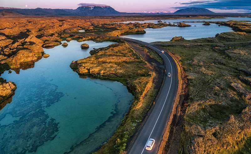 iceland north east drive around lake myvatn rth
