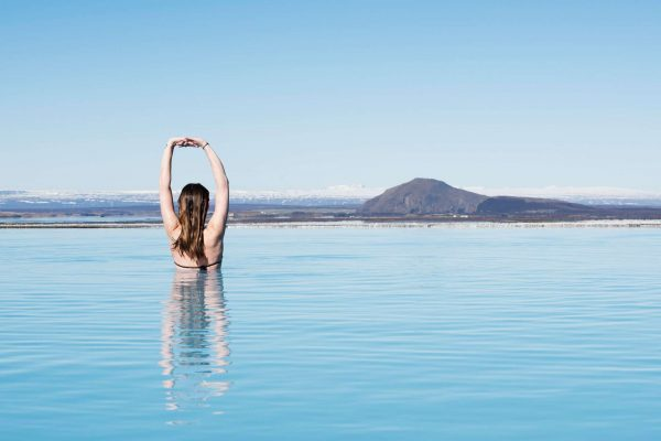 iceland north east myvatn nature baths with female
