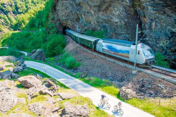 norway fjords flam railway cycling view vflm sh