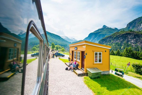norway fjords flam railway station scenery vflm sh